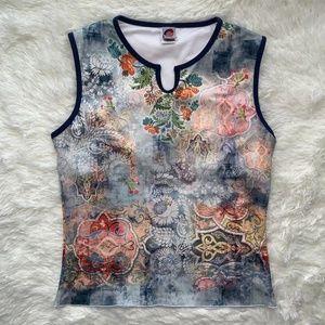 24 Hour Fitness Mandala Yoga Gym Shirt Size L